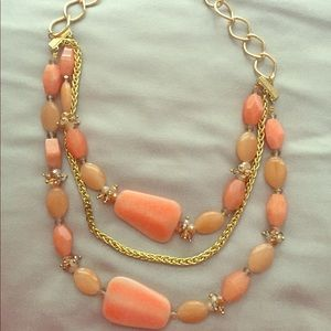 NY&C Coral stone necklace